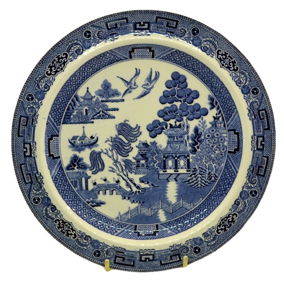 Wedgwood Blue and White Willow china 9.25 inch dinner plate