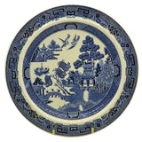 Wedgwood Blue and White Willow china 9.75 inch rimmed bowl