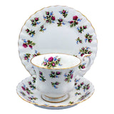 Royal Albert Winsome Floral China Tea Cup trio