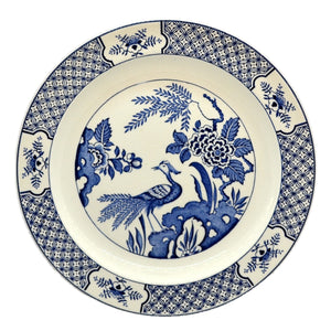 "Wood & Sons ""Yuan"" Blue and White china 10 inch dinner plate"