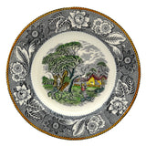 Woods and Sons Woodland Grey and White China Rimmed Soup Bowl