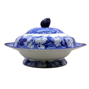 Enoch Woods English Scenery Woods Ware Blue and White China Tureen