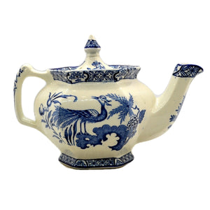 "Small Wood & Sons ""Yuan"" Blue and White China Teapot c1920"
