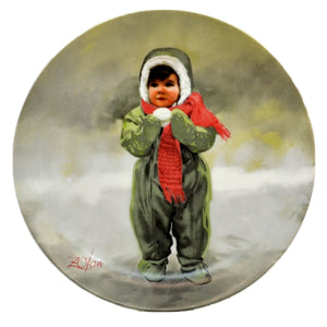 Winter Angel Donald Zolan Collectors Plate 1984