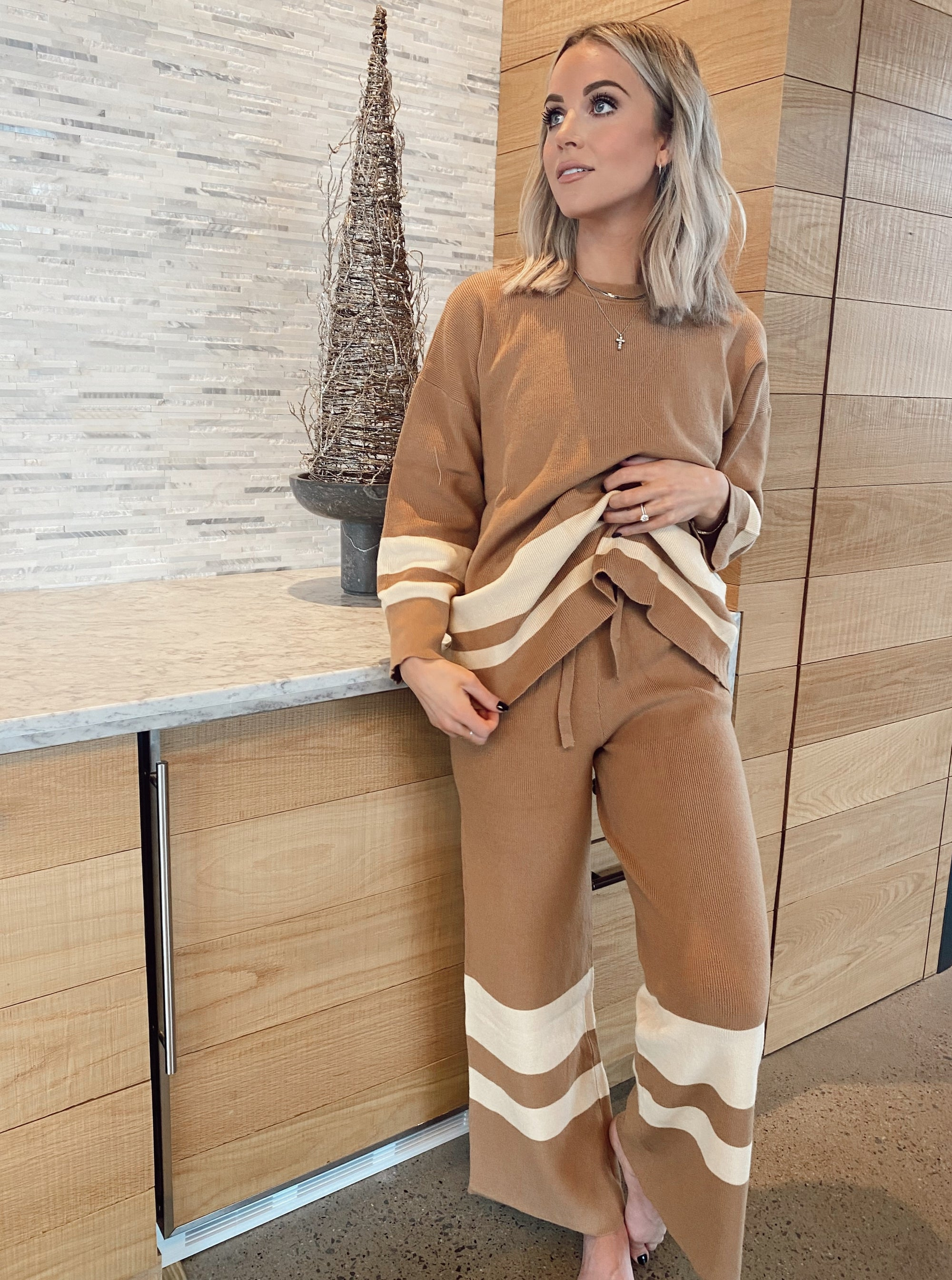 Harper Striped Sweater Set