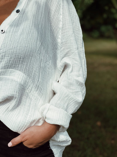 Plush Oversized Button Down