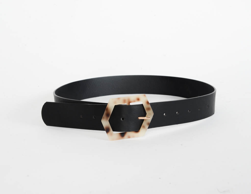 Tortoise Shell Buckle Belt
