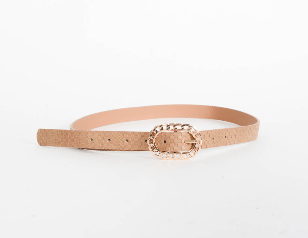 Shay Woven Leather Belt