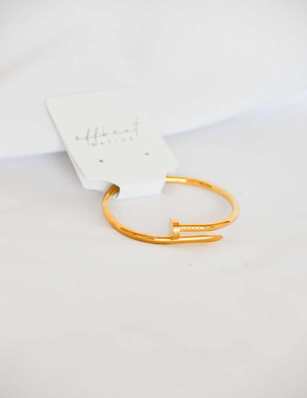 Bend It Back Gold Nail Bracelet