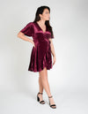 Make A Toast Velvet Wrap Dress
