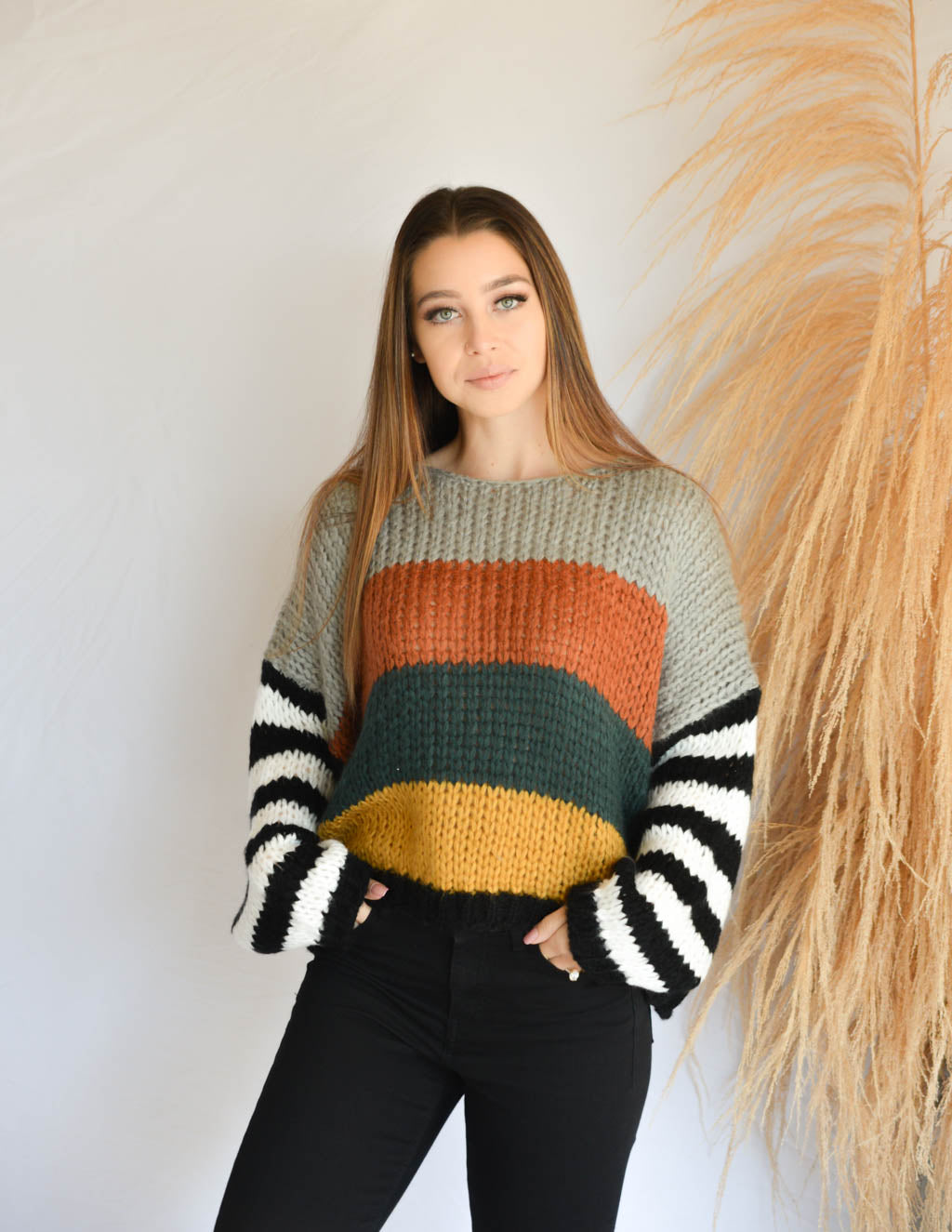 Mixed Feelings Striped Sweater