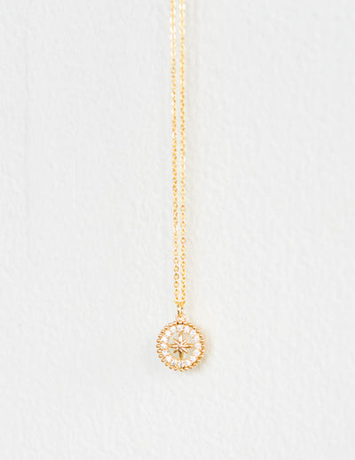 Mini Compass Pendant Necklace