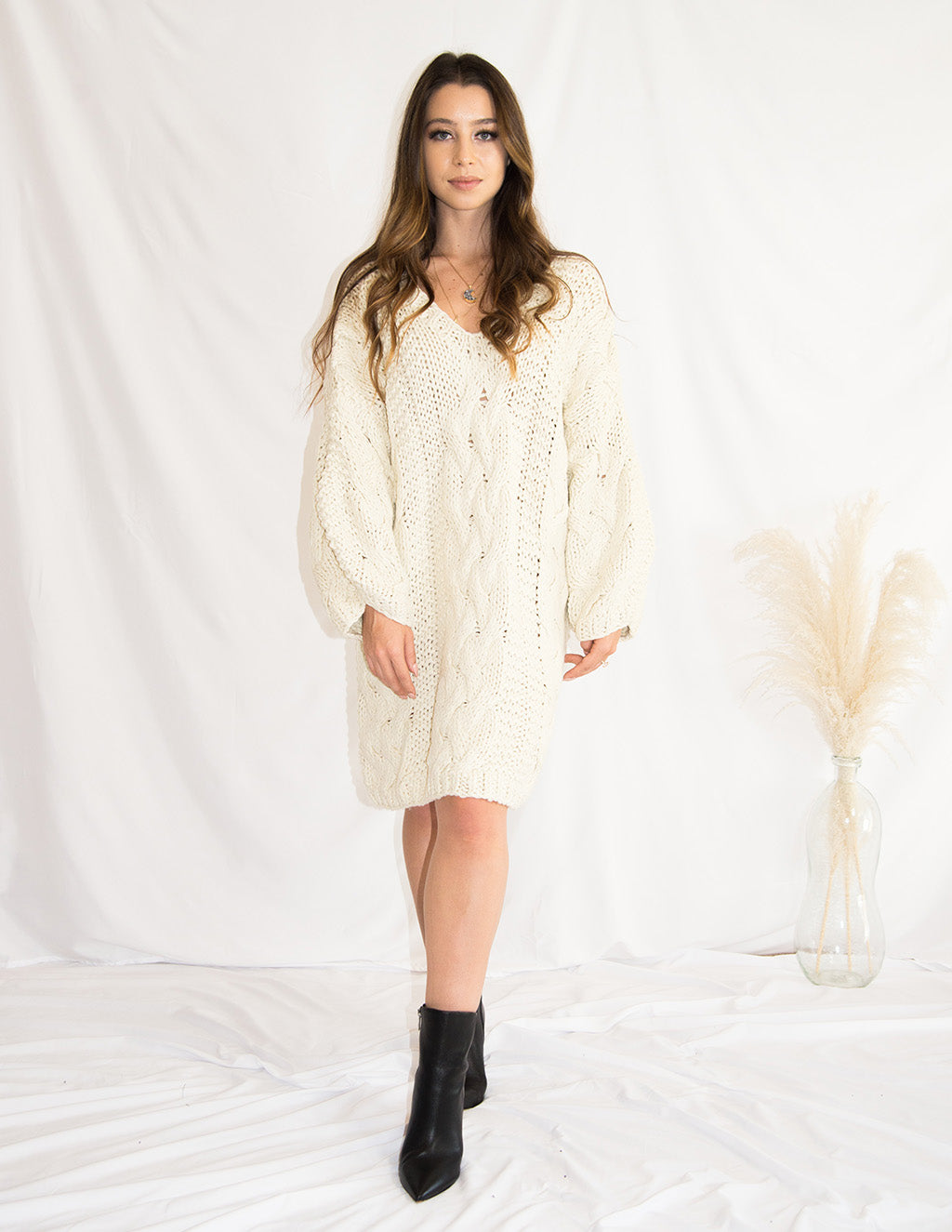 Soy Milk Latte Sweater Dress