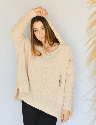 Chill Mode Chenille Hooded Sweater