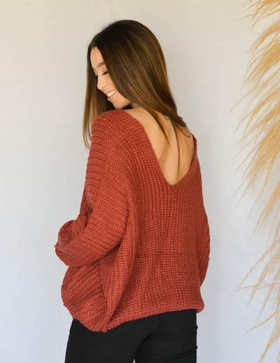 Valerie Brick Sweater