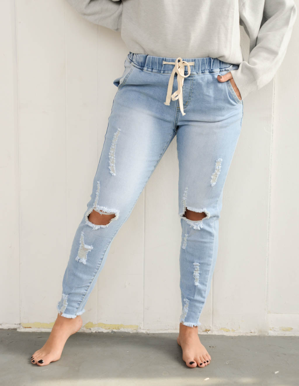 Long Lived Denim Jogger