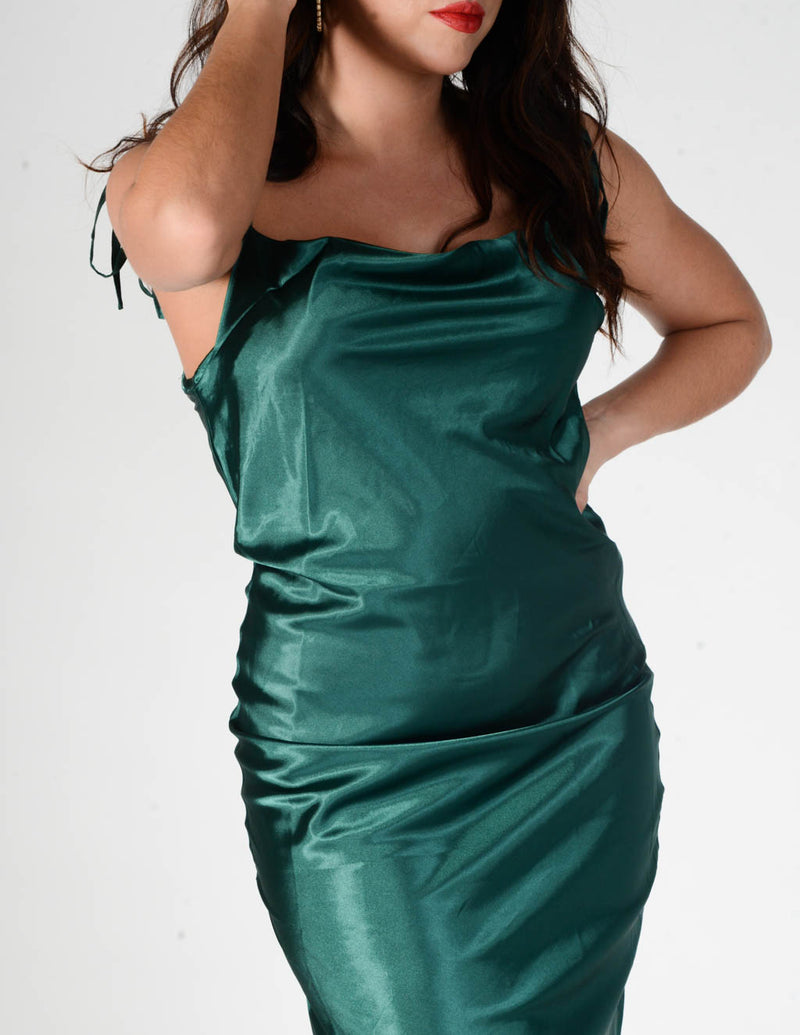 Emerald Dreams Slip Dress