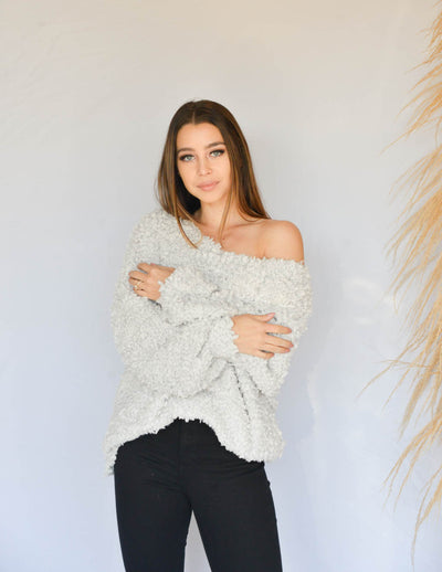 Luna Fuzzy Knit Sweater