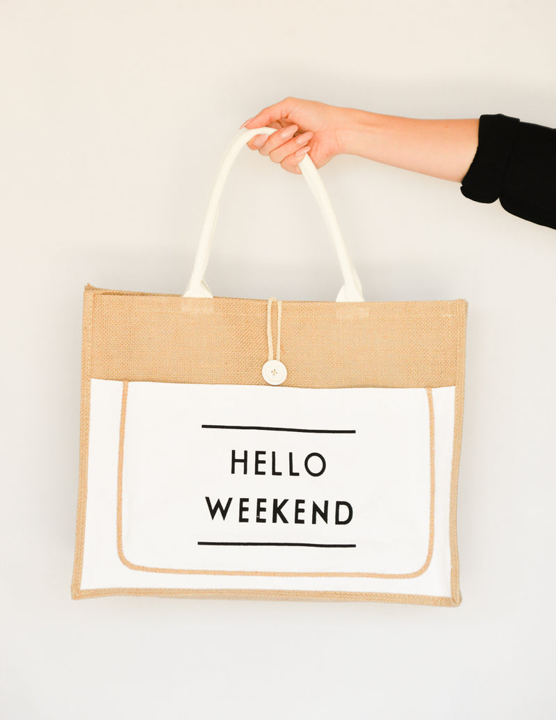 White Weekend Tote