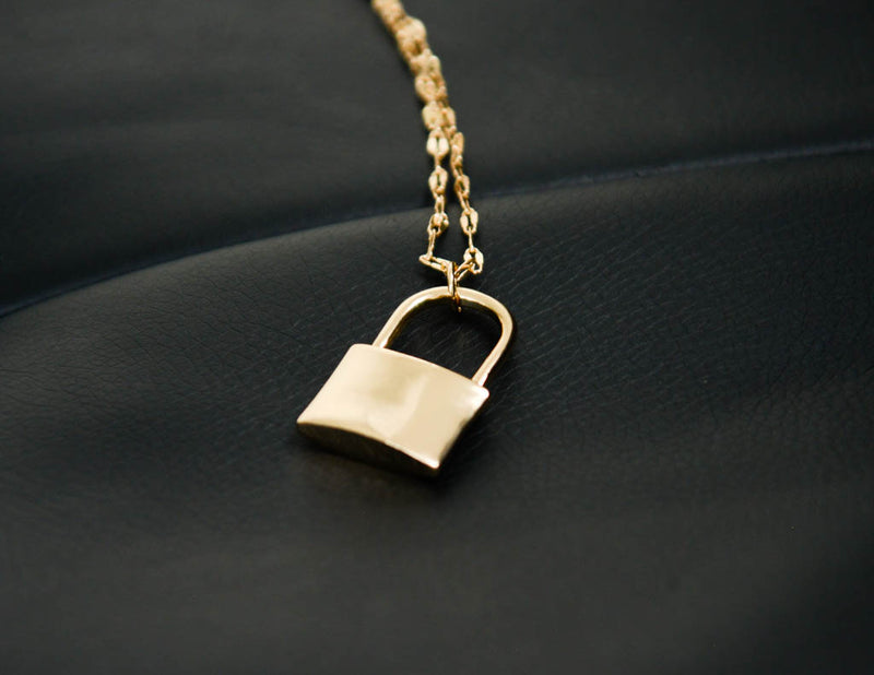 Linked & Locked Gold Necklace