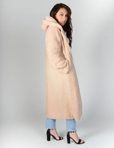 Swept Up Hooded Teddy Jacket