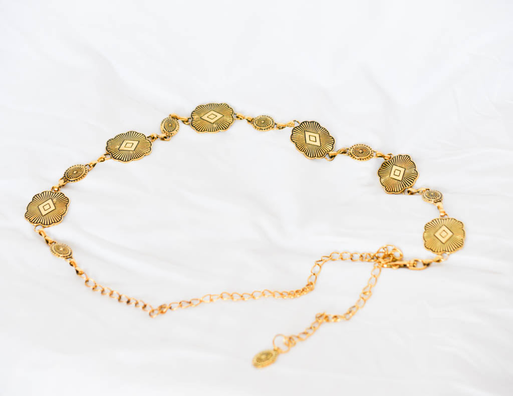 Gold Medallion Chain Belt