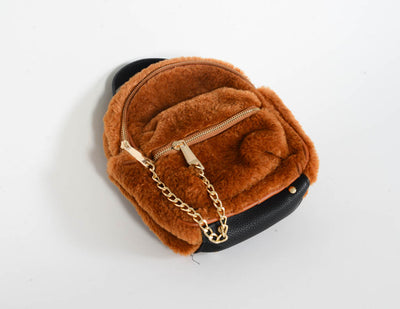 Mini Faux Shearling Teddy Bear Bag