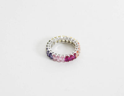 Sterling Silver Baguette Eternity Ring