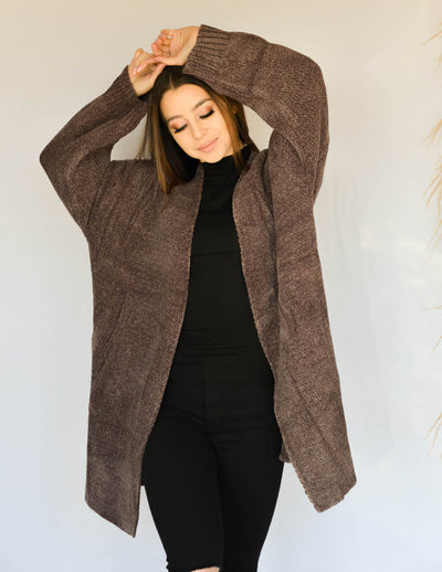 Heaven Sent Chocolate Cardi