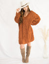 Lust In Rust Sweater Dress