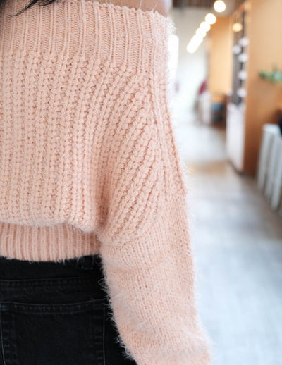 Apricot Off The Shoulder Sweater
