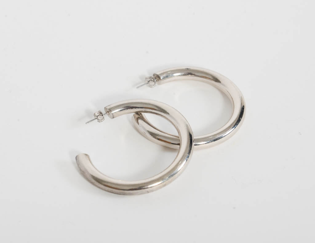 Silver Chunky Hoops