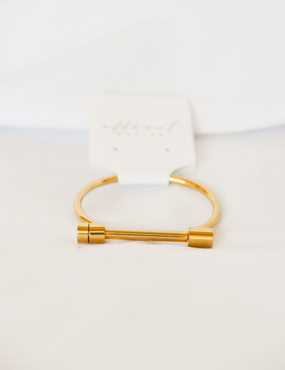 Across The Bar Gold Bracelet