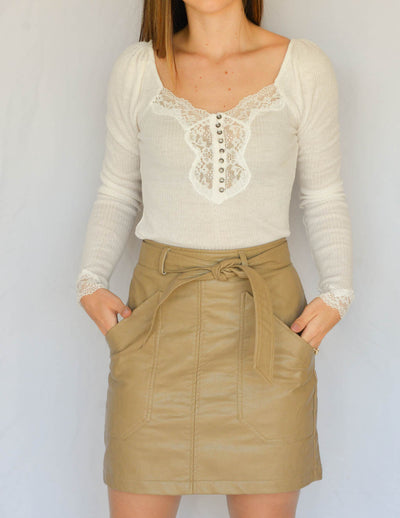 Reilly Faux Leather Skirt