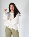Pop The Confetti Distressed Sweater