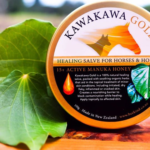 Bee Kind - Kawakawa Gold with Active 15+ Manuka Honey for Horses & Hounds - 150 gms