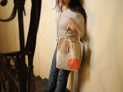 maisongeorgette/pp bag アンティーク・リネントートbeige/rose