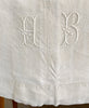 Antique French linen table cloth (HB)
