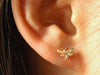 Alex Monroe / Tiny butterfly stud earring (g)