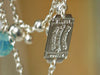 【送料無料】tomoko furusawa / double chain necklace (elephant/silver/pacific)