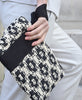 Maria La Rosa / bag tour in handwoven fabric (pois pois black)