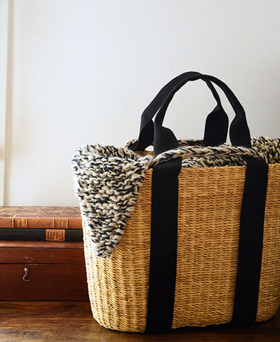 MUUN / CABA G basket bag (knit mix ecru)