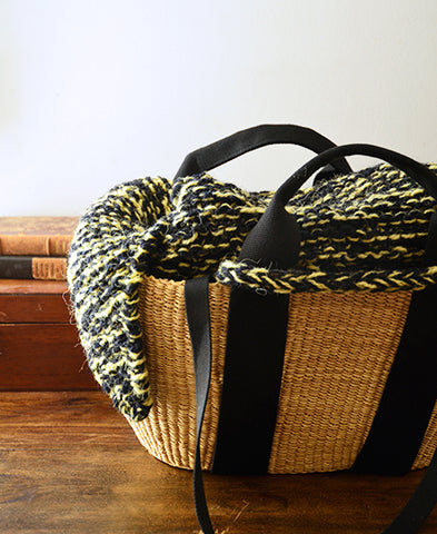 MUUN / GEORGE basket bag (knit mix yellow, m)
