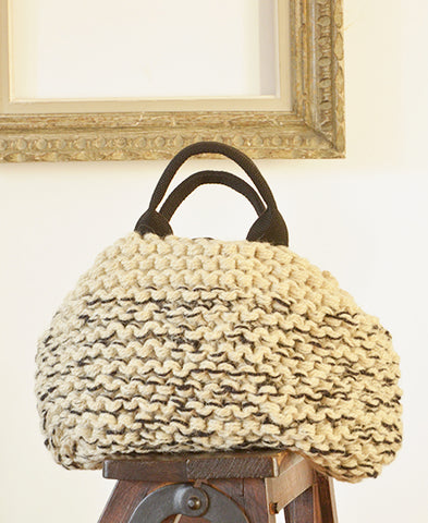 【40%OFF】MUUN / Mini IVAR knit mix bag (mix ecru)