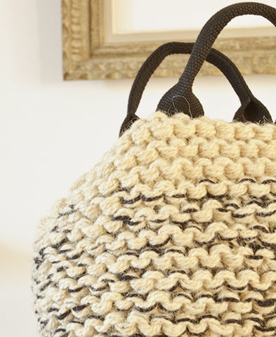 MUUN / Mini IVAR knit mix bag (mix ecru)