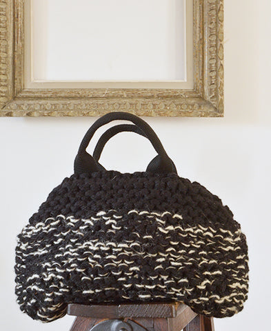 MUUN / Mini IVAR knit mix bag (mix black)
