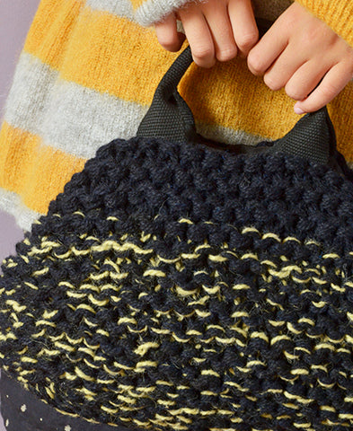 MUUN / Mini IVAR knit multi bag (multiyellow)