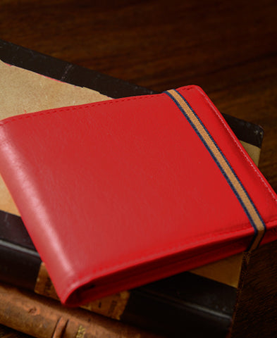 Carre Royal / Elasticated band wallet LA901  (rouge)
