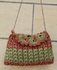 Maria La Rosa / bag albalace in crochet fabric (red/green)