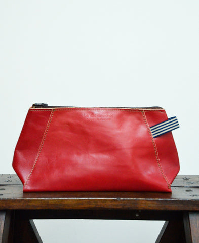 Bandit Manchot / leather pouch for men (red)